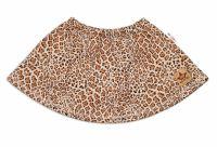 BABY NELLYS Dětská sukně Gepard - hnědá, vel. 98