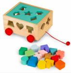 ECO TOYS Edukační dřevěná vkládačka - Kostka