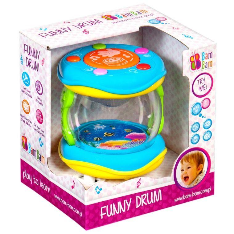 Edukační hračka Baby Mix Malý bubínek modrý
