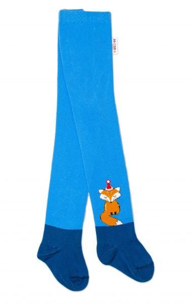 Baby Nellys Dětské punčocháče bavlněné, Fox, jeans-modrá, 1ks, vel. 92/98