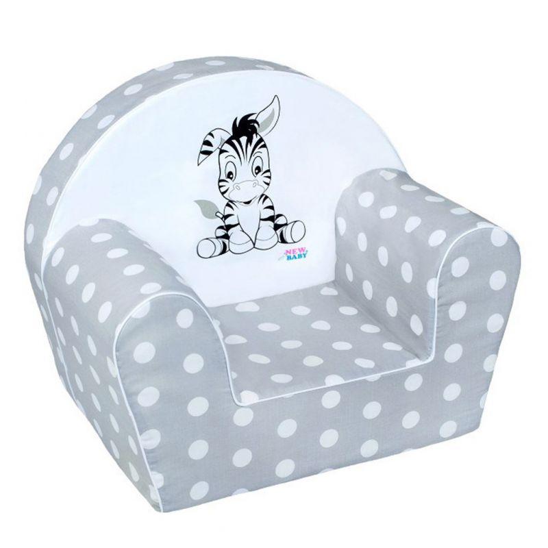 Dětské křeslo New Baby Zebra šedé 28974