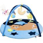 Hrací deka s melodií PlayTo spící medvídek modrá 31613