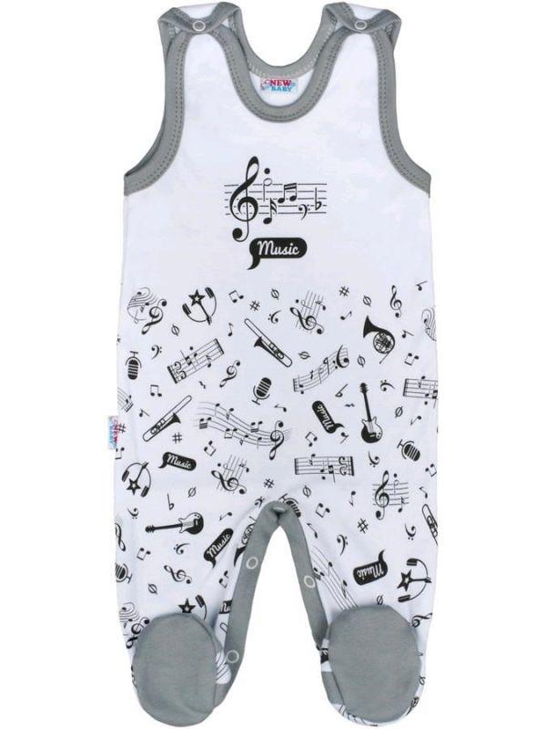 Kojenecké bavlněné dupačky New Baby Music 32026