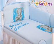 Baby Nellys Mantinel 360cm s povlečením Sweet Dreams by Teddy - modrý