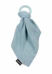 Minene Silikonové kousátko s mušelinovým přítulníčkem - modré