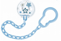 Řetízek na dudlík  Canpol Babies - Newborn baby, sv. modré