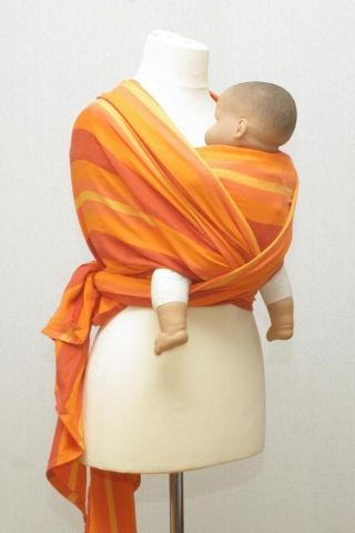 Šátek na nošení miminek a dětí ŠaNaMi - Orange 5,5 m