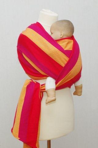 Šátek na nošení miminek a dětí ŠaNaMi - Pastelka 5m