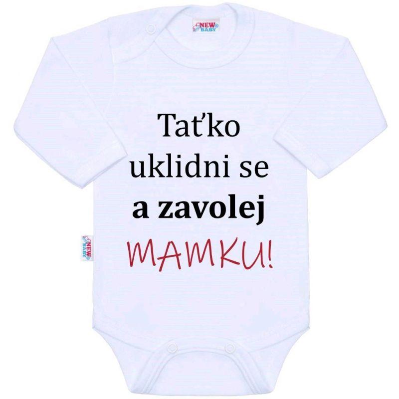 Body s potiskem New Baby a zavolej MAMKU! 39275