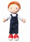 Hadrová panenka BabyOno Oliver Doll, granátová