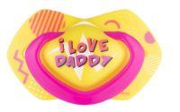 Canpol Babies 2 ks symetrických silikonových dudlíků, +18m, Neon Love Baby, růžovo, žluté