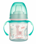 Canpol babies Nevylévací hrníček EasyStart - Zvířátka - zelená