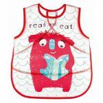 Canpol babies Plastový bryndák/zástěrka s kapsičkou Monsters - červená