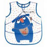 Canpol babies Plastový bryndák/zástěrka s kapsičkou Monsters - modrá