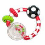 Chrastítko Canpol Babies s kroužky - červené