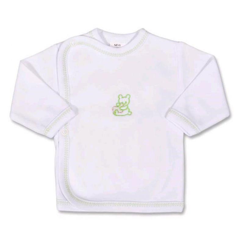 Kojenecká košilka s vyšívaným obrázkem New Baby zelená 984