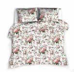 Baby Nellys 2-dílné bavlněné povlečení 140 x 200/70 x 80 cm - Růže, bílá