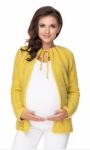 Be MaaMaa Těhotenský svetřík, kardigan na zavazování, medová