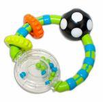 Chrastítko Canpol Babies s kroužky - zelené