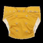 Mamatti Látková plenka EKO sada - kalhotky + 2 x plenka, Mýval, vel. 5 - 14 kg hořčicová