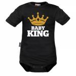 Body krátký rukáv Dejna Baby King - černé, vel. 86