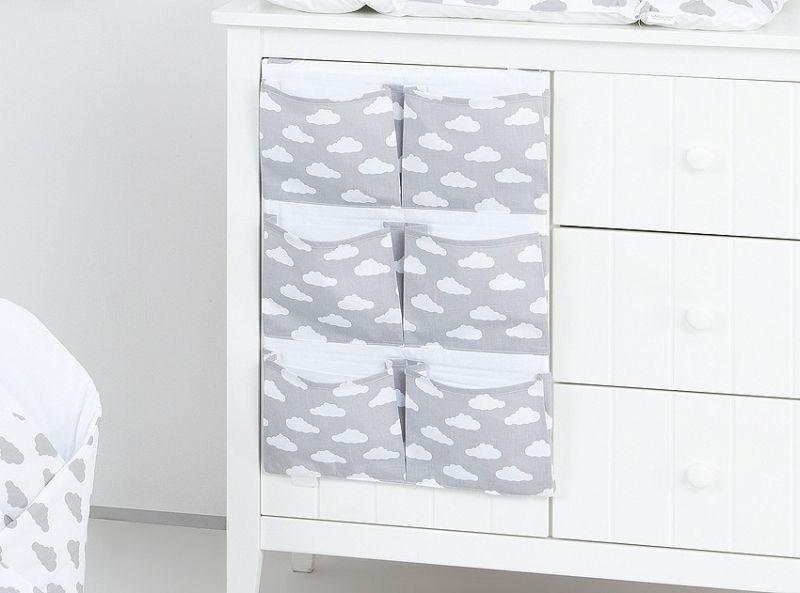 Mamo Tato Kapsář 40 x 65 cm - Mráčky bílé na šedém