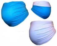 Be MaaMaa Těhotenský pás DUO - modrá s bílou, vel. XL