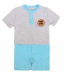 Mamatti Body s nohavičkami Liška - šedá, tyrkysová