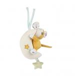Canpol babies Závěsná plyšová hračka s melodií a pískatkem - Myška na měsíčku