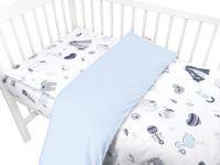 Baby Nellys 2-dílné bavlněné povlečení, New Love Baby - modrá