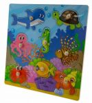 Tulimi Dřevěné zábavné puzzle vkládací - Oceán II.
