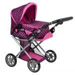 Multifunkční kočárek pro panenky PlayTo Elsa růžovo-černý 33103