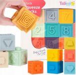 Tulimi Edukační barevné měkké kostky 12ks