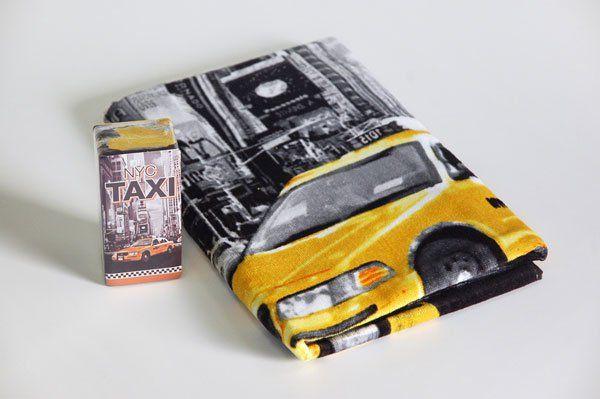Dětská osuška TAXI NYC žluto-šedá 140x70 cm skladem Faro