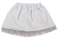 Mamatti Dětská bavlněná sukně, Listy - šedá