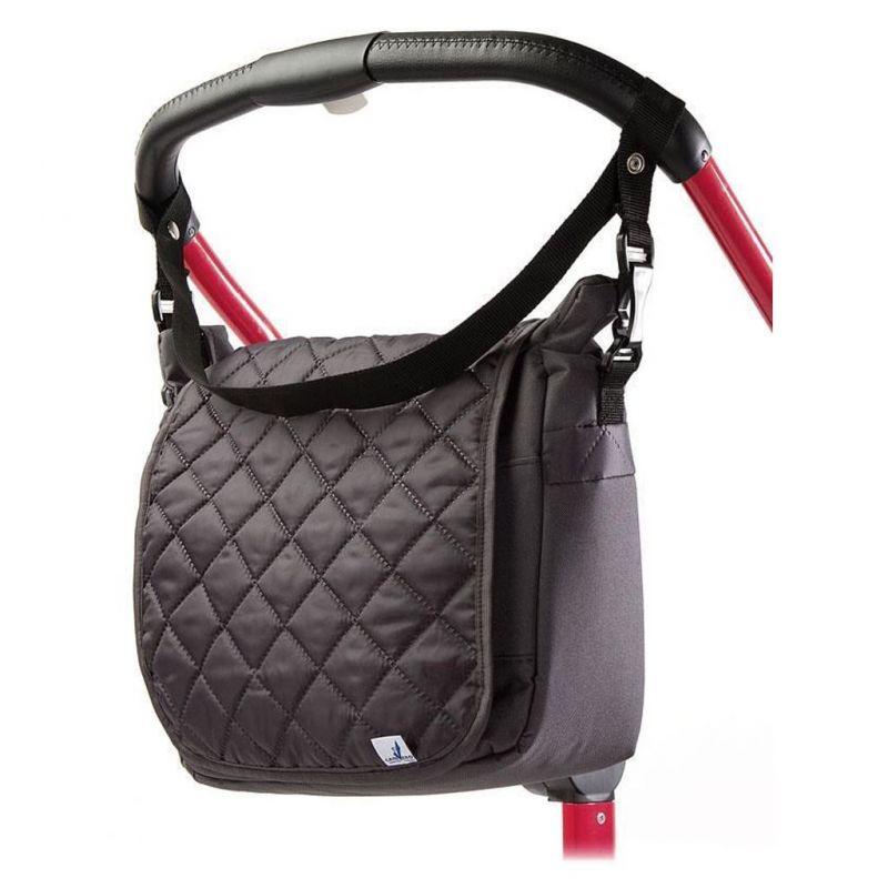 Prošívaná taška na kočárek CARETERO graphite 35310