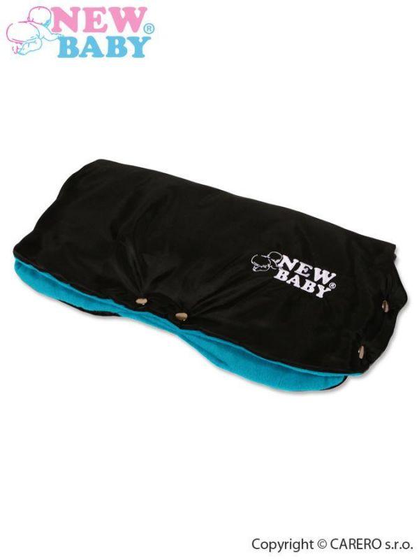 Rukávník na kočárek Classic Fleece black/blue 14715 NEW BABY