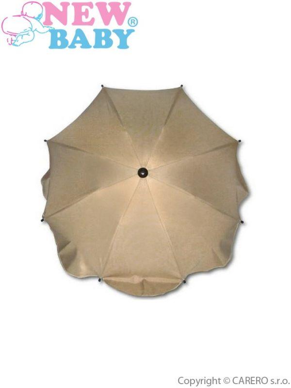 Slunečník na kočárek - béžový 32075 NEW BABY