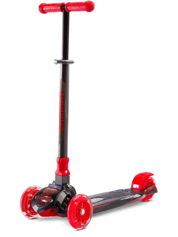 Dětská koloběžka Toyz Carbon red 31496