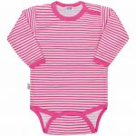 Kojenecké body New Baby Classic II s růžovými pruhy 35026