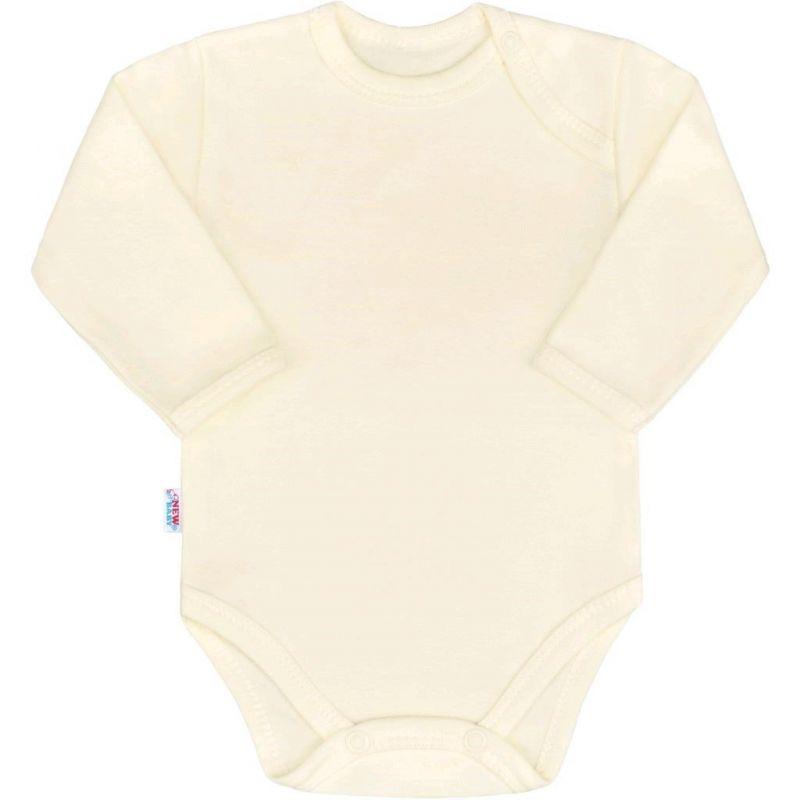 Kojenecké body s dlouhým rukávem New Baby Pastel béžové 33635