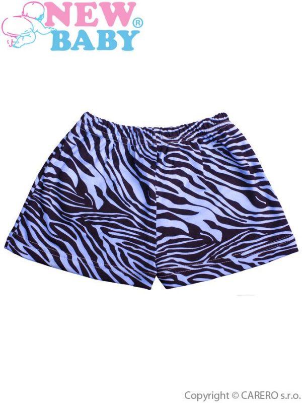 Dětské kraťasy New Baby Zebra modré