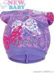 Jarní dětská čepička New Baby motýlci fialová 30564