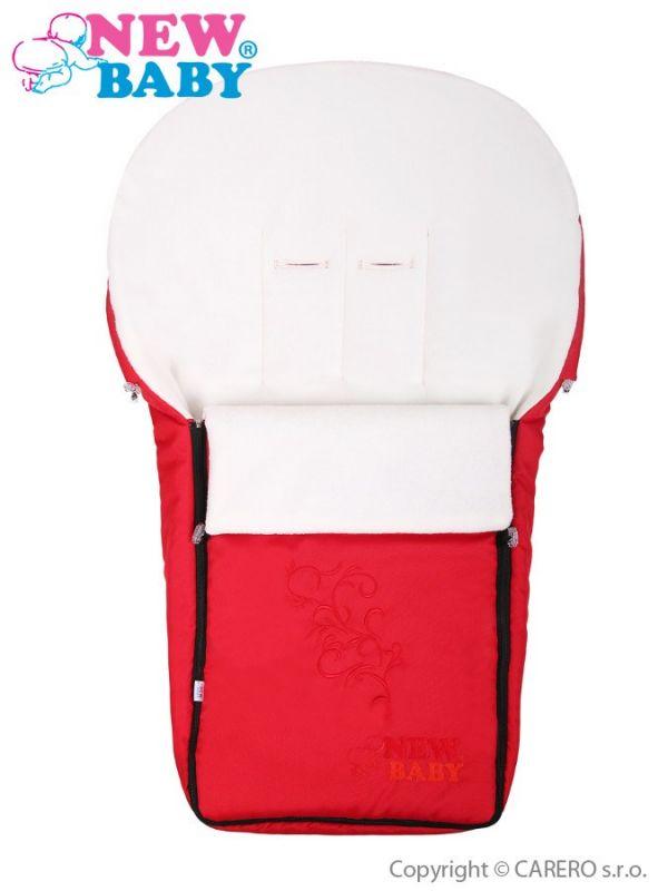 Luxusní fleecový fusák New Baby červený 21811